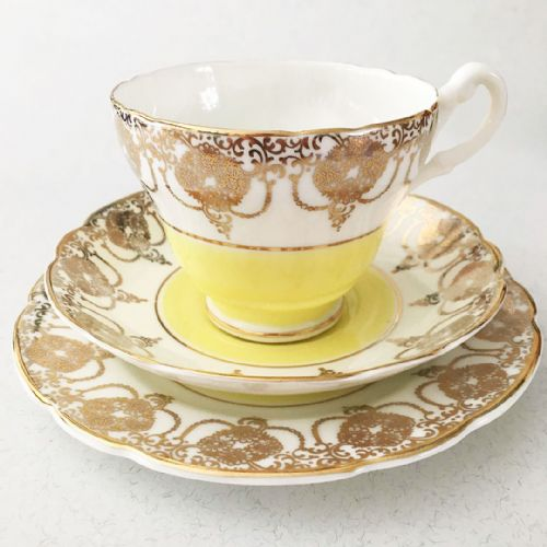 Bone China - Trio - Yellow & Gold -  10s 20s